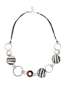 Amber Rose Zebra Ponyskin Rope Necklace