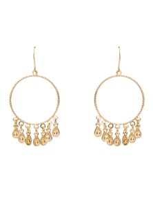 Amber Rose Hoop Fringe Hoop Earrings