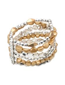 Amber Rose Two Tone Stretch Bracelet