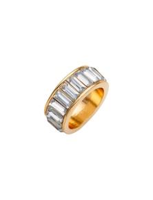 Amber Rose Bar Finger Ring
