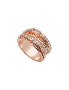 Amber Rose Stacked Finger Ring