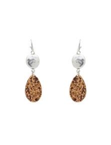Amber Rose Teardrop Stone Earring