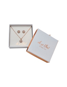 Amber Rose Mothers Day Earring Necklace Giftbox