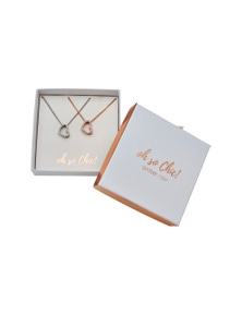 Beme Mothers Day Twin Heart Necklace Giftbox
