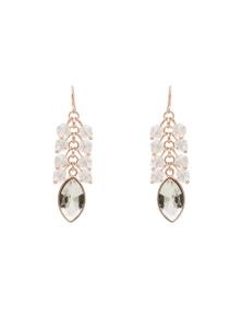 Amber Rose Drop Stone Earrings