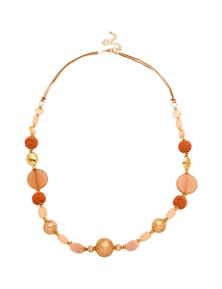 Amber Rose Multi Beads Rope Necklace
