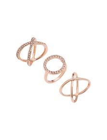 Amber Rose Xox Finger Ring Set