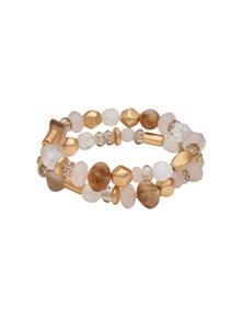 Amber Rose Raw Glass Stretch Bracelet