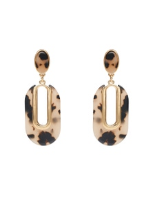 Amber Rose Animal Oval Earrings