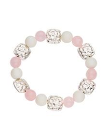 Amber Rose Natural Stone Stretch Bracelet