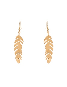 Amber Rose Feather Drop Earrings