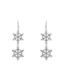 Amber Rose Xmas Snowflake Earring
