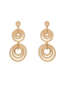 Amber Rose Loop Drop Earrings