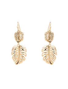 Amber Rose Monstera Drop Earrings