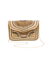 Amber Rose Holiday Beaded Clutch