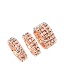Amber Rose Bling Finger Ring Set