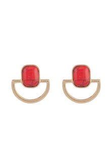 Amber Rose Geo Stone Earrings