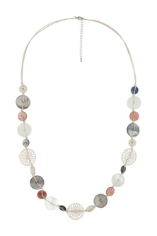 Amber Rose New Naturals Shell Rope Necklace