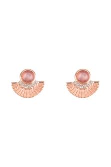Amber Rose Art Deco Fan Earrings