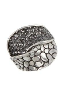 Amber Rose Pave Finger Ring