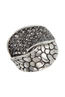 Amber Rose Pave Finger Ring