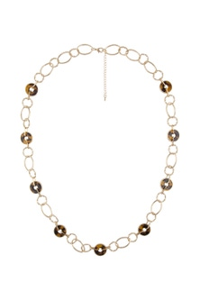 Amber Rose Tort Chain Necklace
