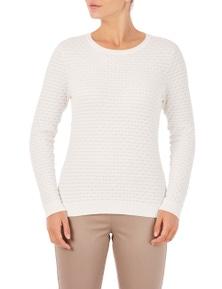 W.Lane Honeycomb Lurex Sweater