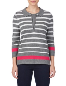 W.Lane Engineered Stripe Sweater
