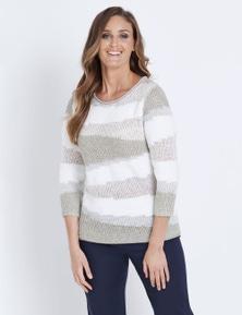 W.Lane Spliced Sequin Sweater