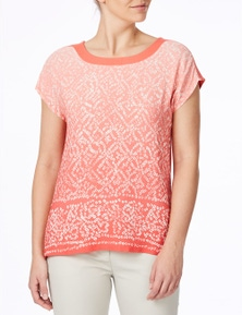 W.Lane Ombre Print Top