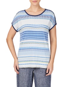 W.Lane Soft Stripe Print Top