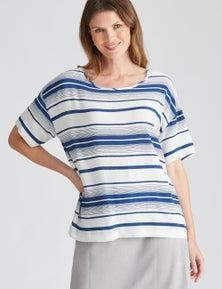 W.Lane Stripe Blouse