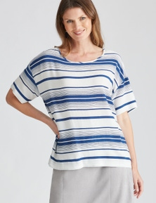 W.Lane Stripe Blouse