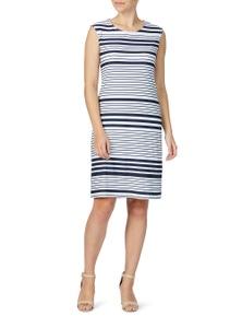 W.Lane Colour Block Stripe Dress