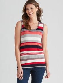W.Lane Stripe Sleeveless Knit