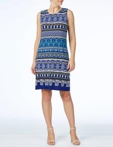 W.Lane Print Block Stripe Dress