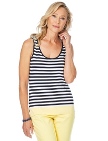 W.Lane Stripe Knit Tank