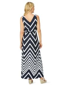 W.Lane Chevron Print Maxi Dress