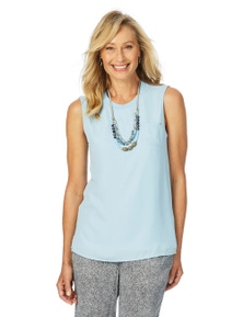 W.Lane Double Sleeveless Woven Tee