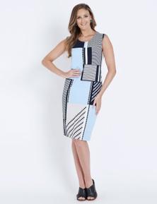 W.Lane Geometric Print Dress