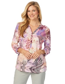 W.Lane Abstract Print Blouse