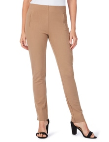 W.Lane Pull On Slim Leg FL Ponte Pant