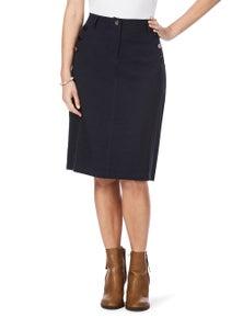 W.Lane Button Detail Skirt