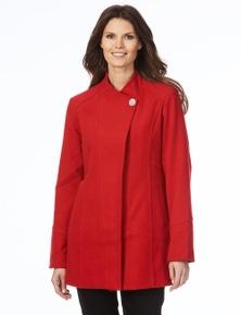 W.Lane Seam Detail Melton Coat