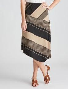 W.Lane Block Stripe Skirt