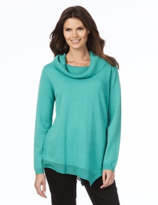 W.Lane Angled Hem Knitted Long Sleeve Tunic