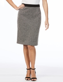 W.Lane Herringbone Pencil Skirt