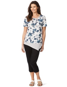 W.Lane Floral Trim Top
