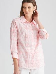 W.Lane Pintuck Print Shirt