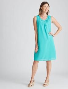 W.lane Embroidery Trim Dress